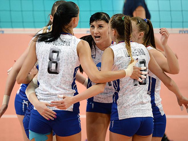 Волейбол. Женщины. Россия - Польша -  3:2