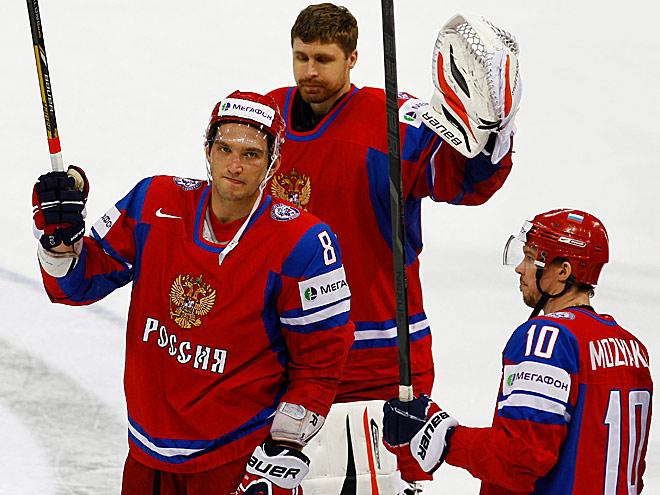 Александр Овечкин, Илья Брызгалов, Сергей Мозякин