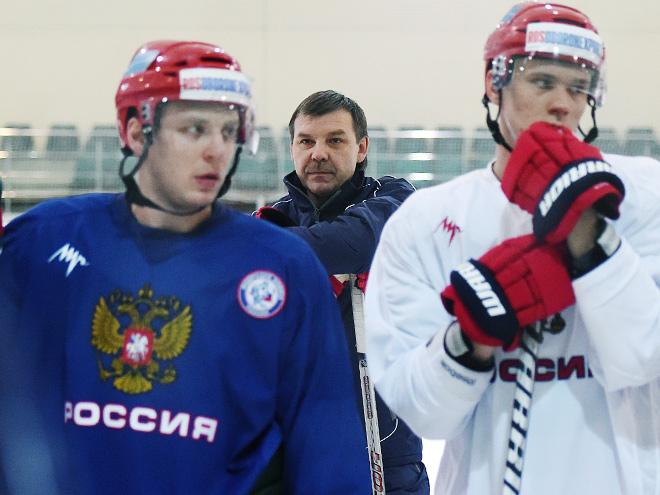 Сборная России провела открытую тренировку