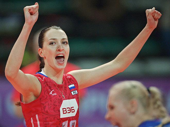 Волейбол. Женщины. Россия — Италия — 3:1