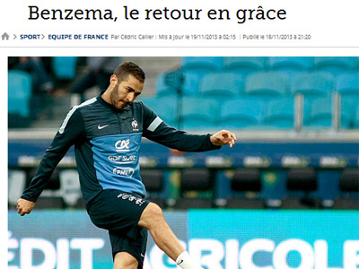 СМИ Франции о матче плей-офф ЧМ-2014 в Париже