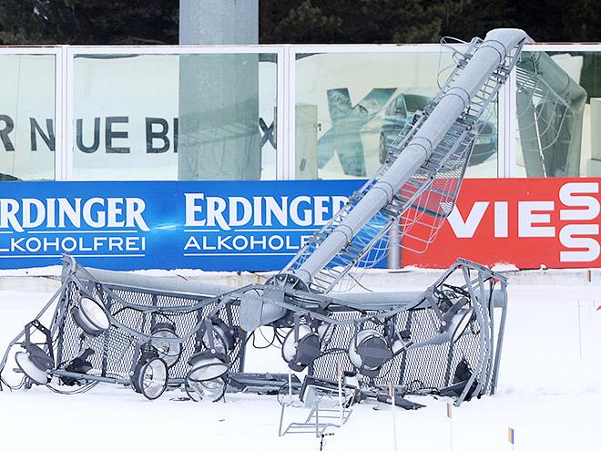 Разрушения стадионов, помешавшие проведению соревнований