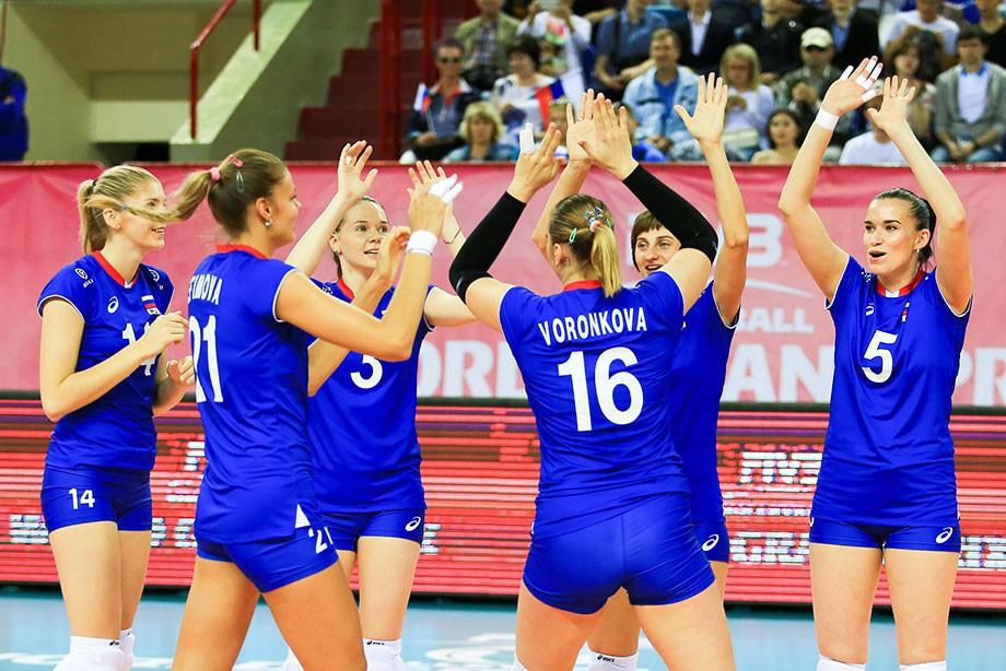 Сборная России обыграла Бельгию в волейбольном Гран-при