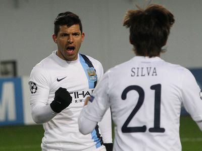 Серхио Агуэро и Давид Сильва