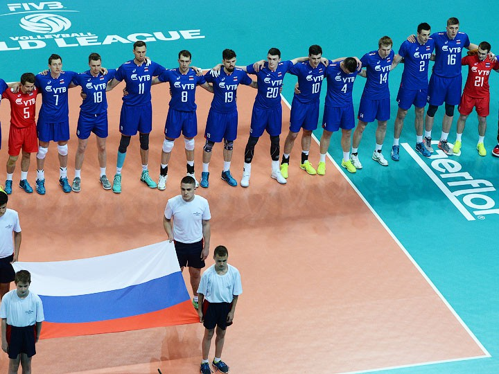 Русские  волейболисты сыграют сбразильцами иканадцами в«Финале шести» Мировой лиги
