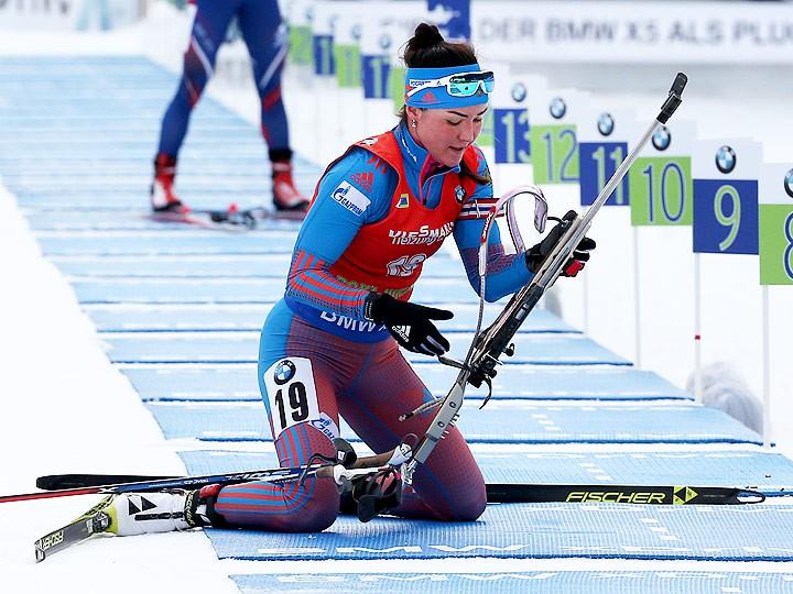 Немка Дальмайер выиграла гонку преследования наэтапеКМ побиатлону вПоклюке
