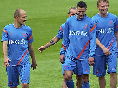Сборные Дании и Нидерландов готовятся к матчу в Харькове