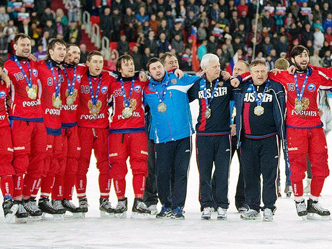 Рязанцев. Россия - чемпион мира по хоккею с мячом