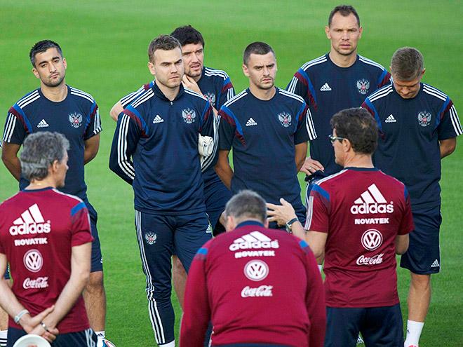Первая тренировка сборной России