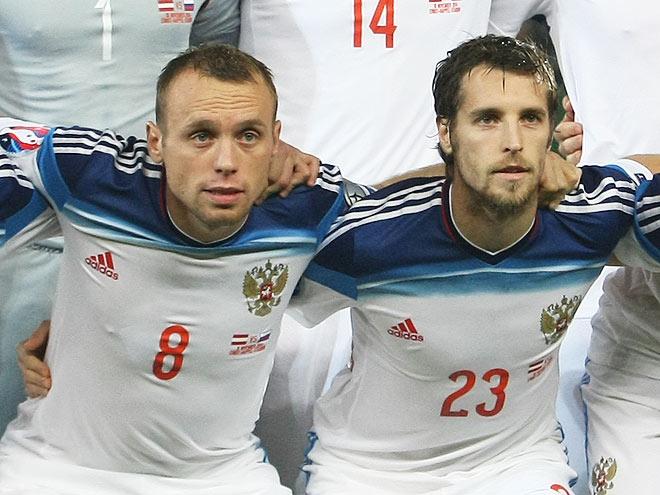Денис Глушаков и Дмитрий Комбаров