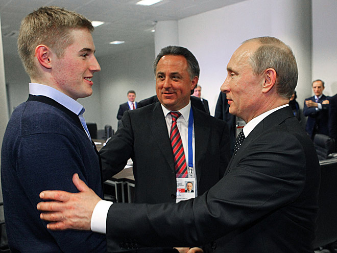 Иван Барбашев, Виталий Мутко и Владимир Путин