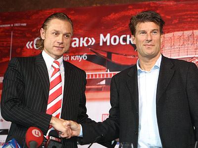 Валерий Карпин и Лаудруп