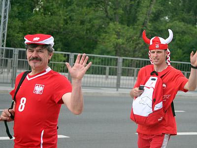 Околофутбольный репортаж из Польши перед сегодняшним матчем