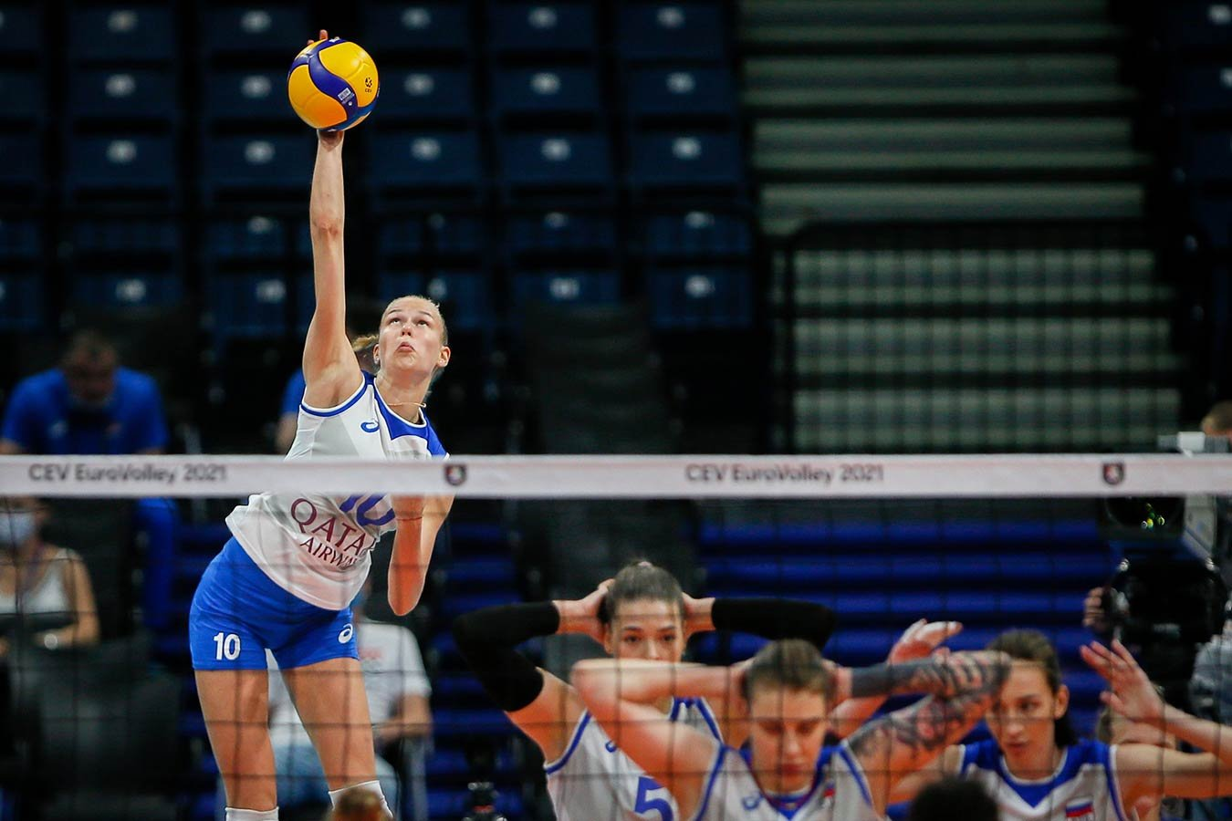 Женская сборная России по волейболу обыграла Францию в первом матче чемпионата Европы