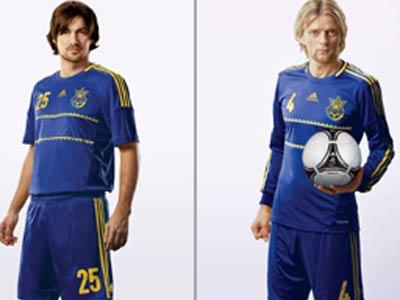 В выездных матчах украинцы будут играть в синей форме