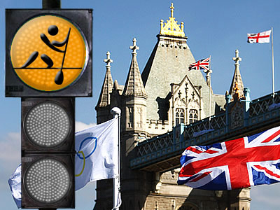 """""""Лондонский светофор"""". Гребной слалом"""