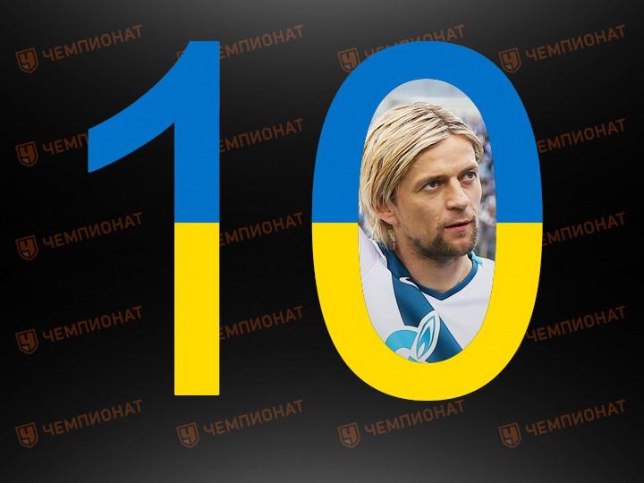 10 лучших легионеров чемпионата России: Украина