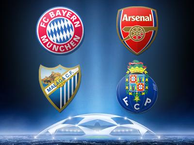 «Бавария» - «Арсенал» и «Малага» - «Порту»: превью
