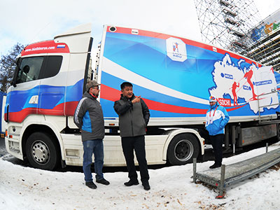 Как работает вакс-грузовик на Олимпиаде в Сочи