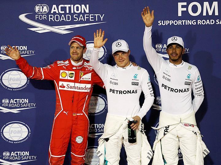 Гран-при Бахрейна Формулы-1: Боттас опередил Хэмилтона в квалификации