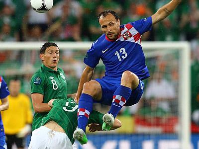 Во втором матче группы С Хорватия обыграла Ирландию