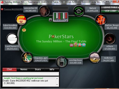 Sunday Million. 4th of April