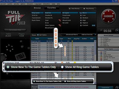 Full Tilt Poker запустил столы для новичков