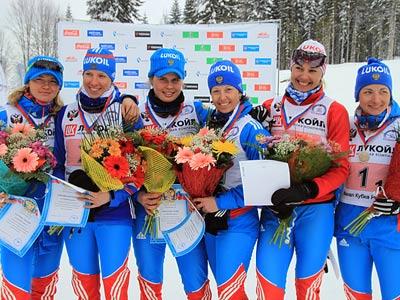 На лыжной трассе в Сочи впервые провели командный спринт