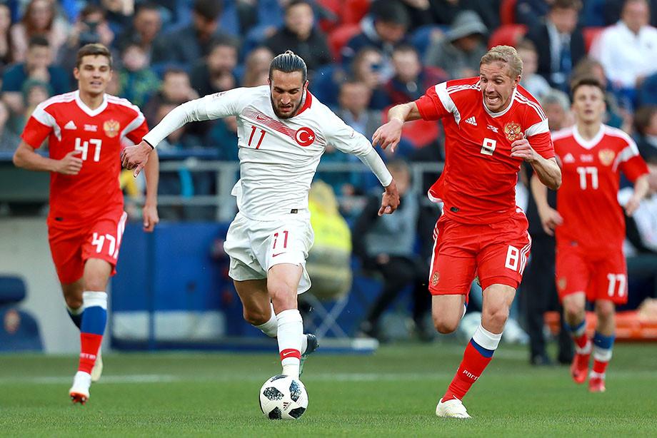Сборная России против сборной Турции
