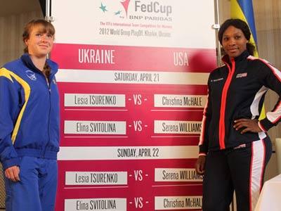 Украина проиграла обе встречи США в первый день матча Кубка Федерации
