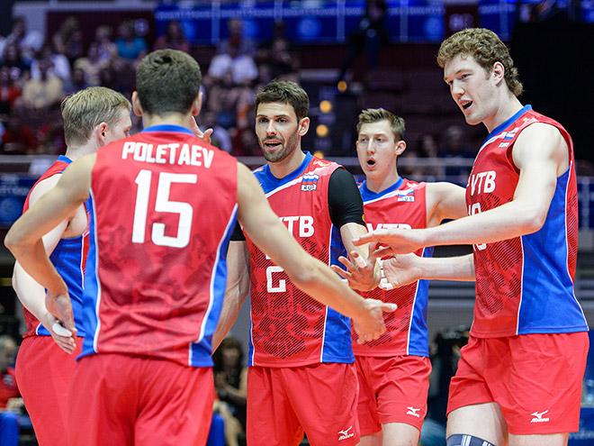 Россияне одержали четвёртую победу в Мировой лиге