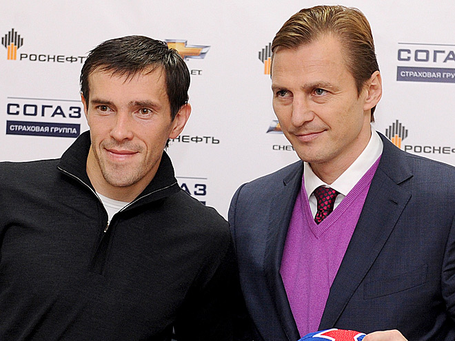 Павел Дацюк и Сергей Фёдоров