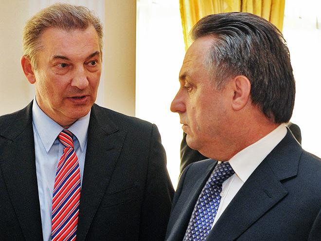 Владислав Третьяк и Виталий Мутко