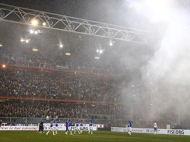 Как погода сорвала матч «Сампдория» – «Дженоа»