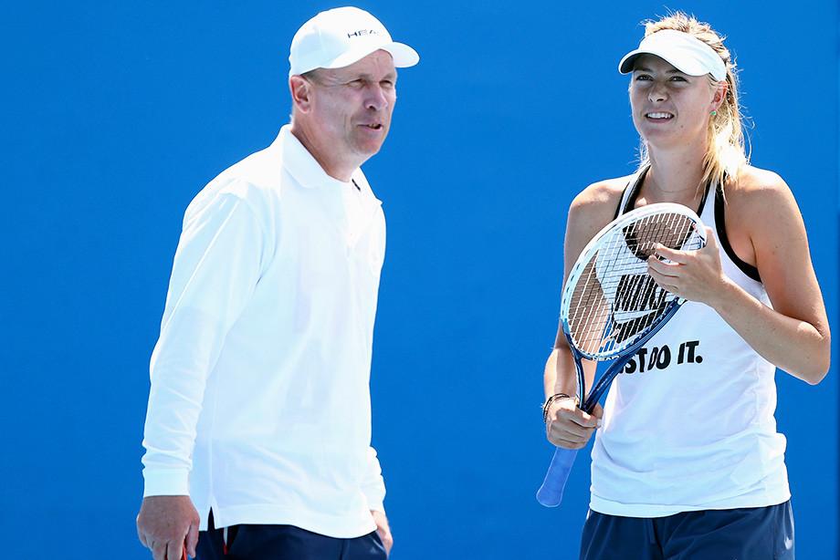 Мария Шарапова с тренером Томасом Хогстедтом