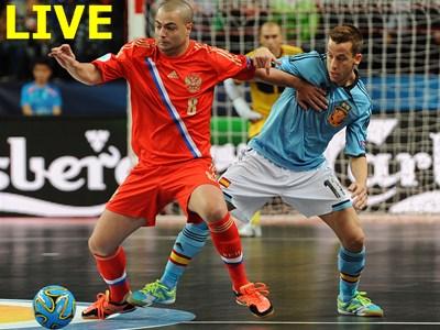Мини-футбол. Чемпионат Европы. Россия - Италия