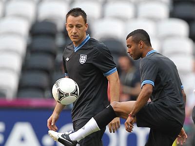 Сборная Англии провела предматчевую тренировку на «Донбасс Арене»