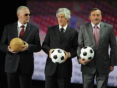 Антонин Паненка (справа) на жеребьёвке Евро-2012