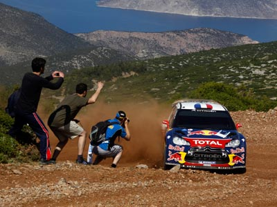 Обзор субботних событий Ралли Греции WRC: Лёб лидирует, Новиков сошёл