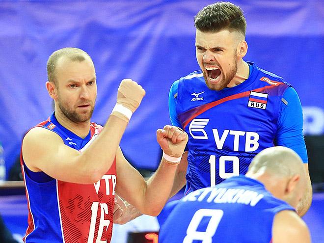 Сборная России одержала первую победу в волейбольной Мировой лиге