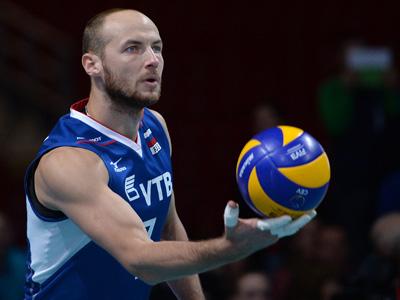 Игрок сборной России Николай Павлов