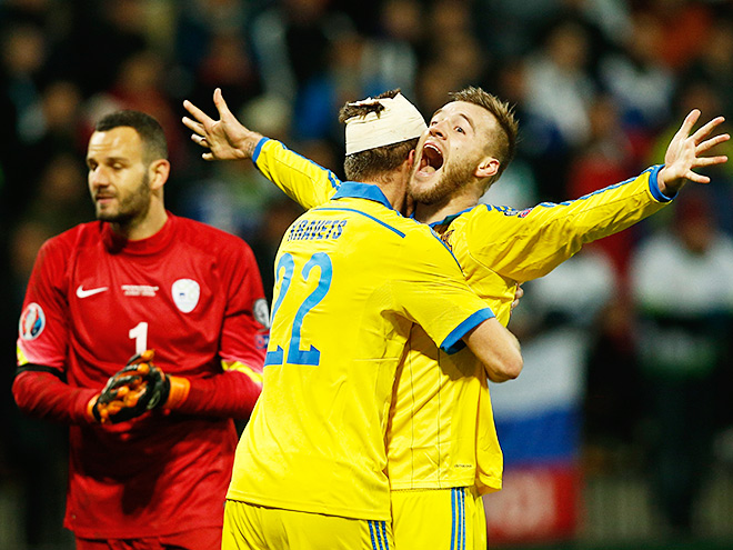 Словения — Украина — 1:0