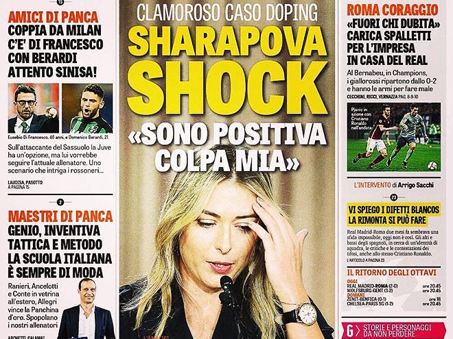 Мария Шарапова в тени допингового скандала с употреблением милдроната