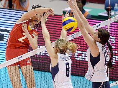 Волейбол. Гран-при. Китай — США — 3:0