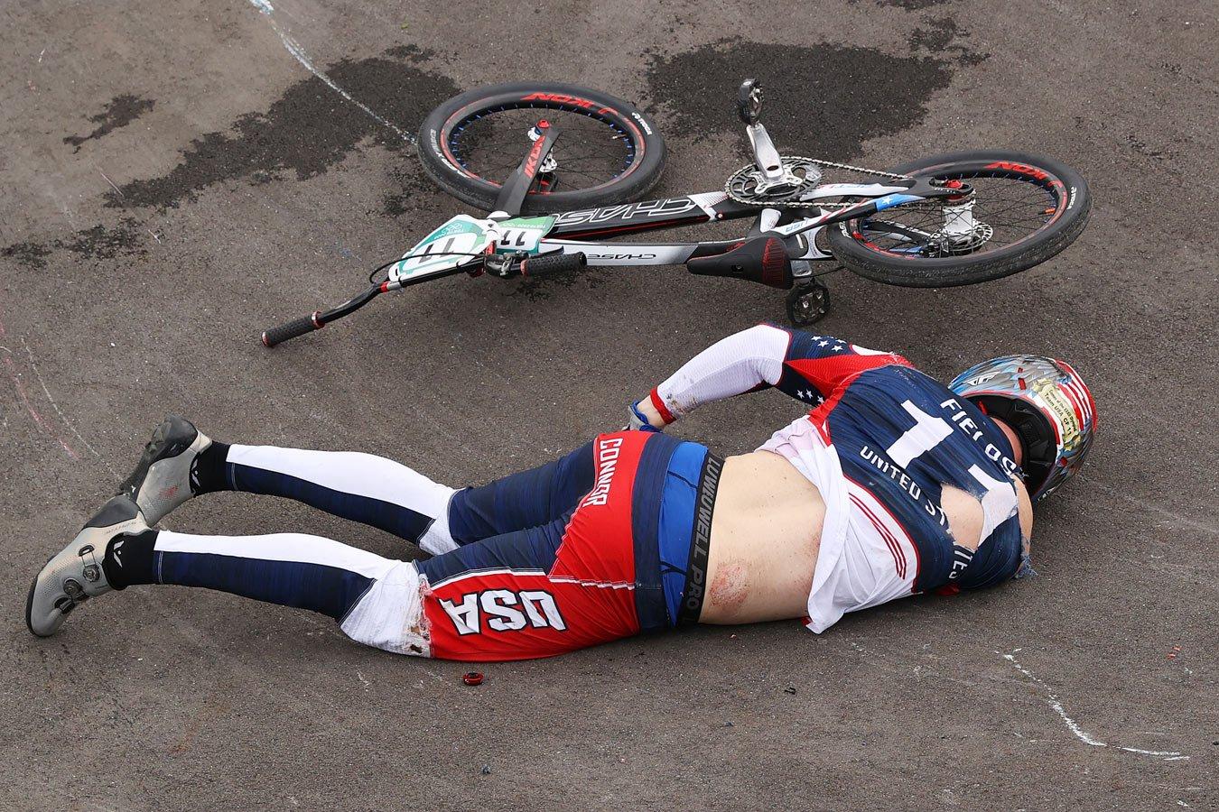 Страшное падение на Олимпиаде.