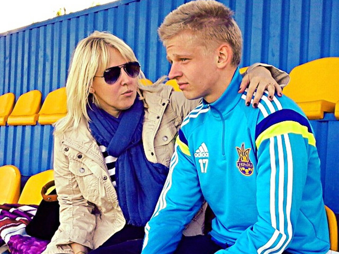 Александр Зинченко с мамой