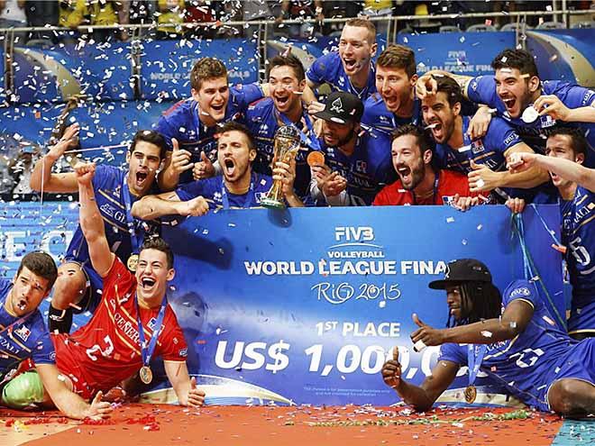 Французы - победители Мировой лиги 2015 года