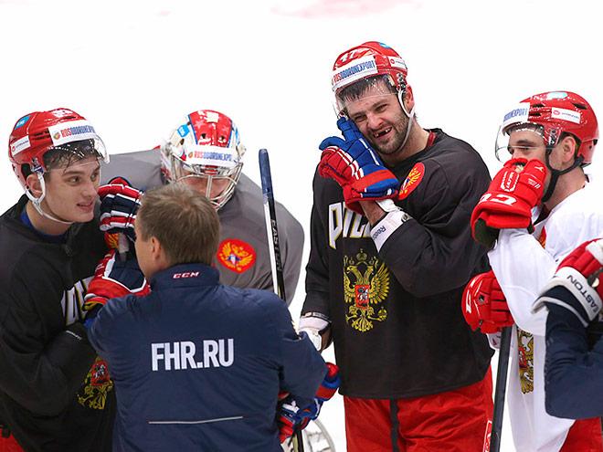 Сборная России за день до старта Кубка Первого канала 2015