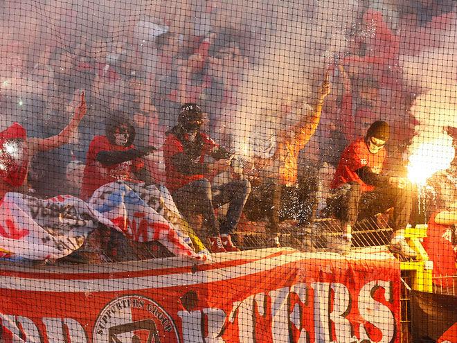 Фото 9-го тура РФПЛ: баннер «Зенита», флэшмоб «Спартака», Гацкан