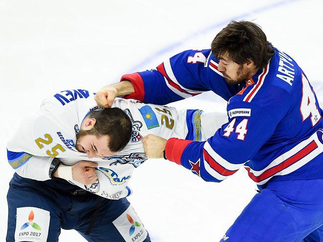 Лучшие драки Артюхина и Рыспаева в КХЛ